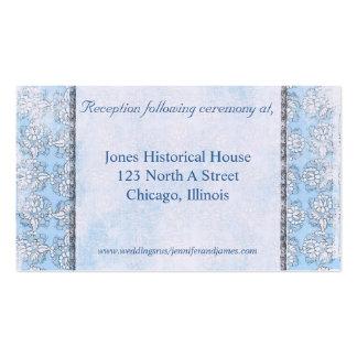 Tarjetas del recinto de la bodas de plata azul y tarjetas de visita