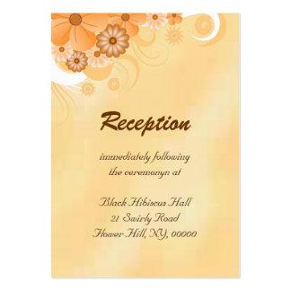 Tarjetas del recinto de la recepción nupcial de la tarjetas de visita grandes