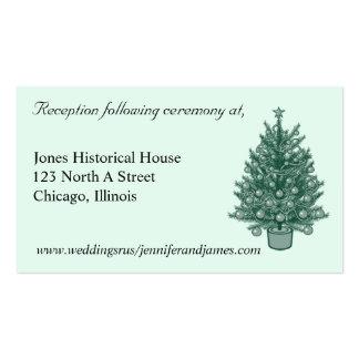 Tarjetas del recinto del boda del árbol de navidad tarjeta de negocio