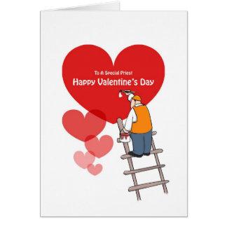 Tarjetas del sacerdote del el día de San Valentín,