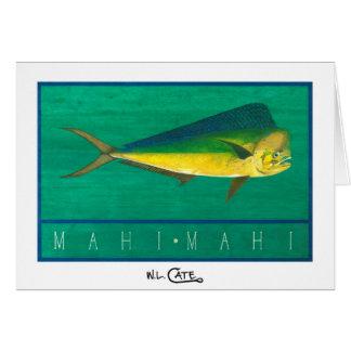 Tarjetas del saludo y de nota de Mahi-Mahi
