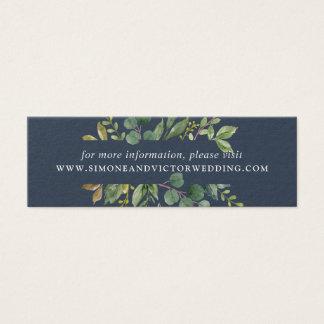 Tarjetas del Web site del boda de la arboleda del