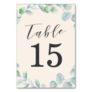 Tarjetas delicadas del número de la tabla de la