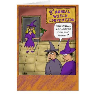 Tarjetas divertidas de Halloween: Convenio de la