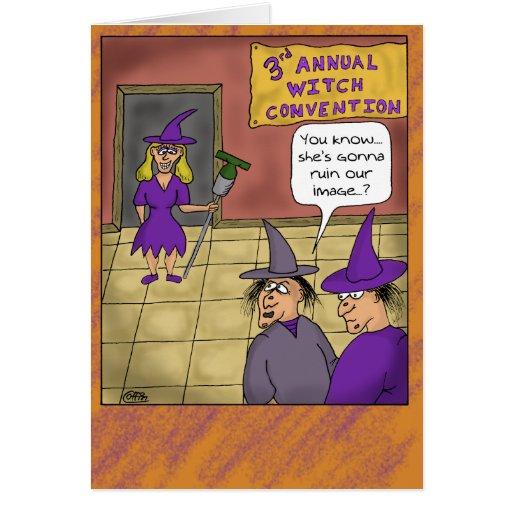 Tarjetas divertidas de Halloween: Convenio de la b