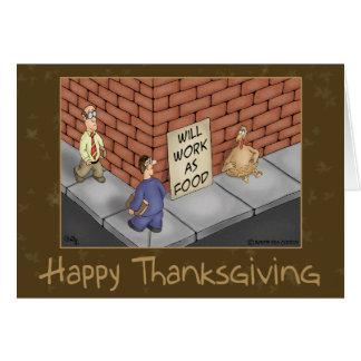 Tarjetas divertidas de la acción de gracias: Es