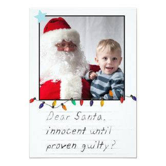 tarjetas divertidas de la foto del navidad del invitación 12,7 x 17,8 cm