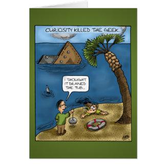 Tarjetas divertidas del aniversario: Naves Ahoy