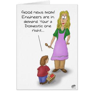 Tarjetas divertidas del día de madres: Ingeniero n
