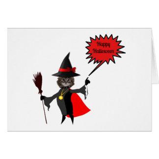Tarjetas divertidas del gatito de Halloween