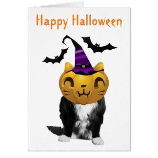 Tarjetas divertidas del gato de Halloween