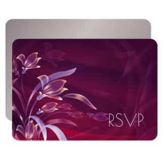 Tarjetas el | de plata florales elegantes de RSVP Invitación 8,9 X 12,7 Cm