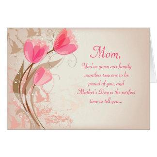 Tarjetas elegantes del día de madre