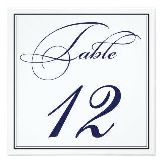 Tarjetas elegantes del número de la tabla de la