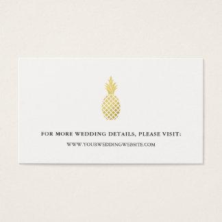 Tarjetas elegantes del Web site del boda de la