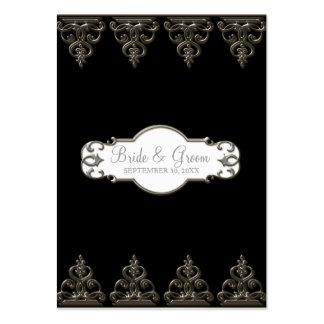Tarjetas elegantes formales florales del asiento tarjetas de visita grandes