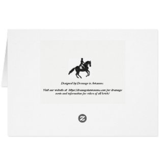 Tarjetas en blanco del Dressage - caballo y jinete