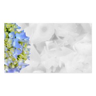 Tarjetas en blanco florales azules y blancas del tarjetas de visita