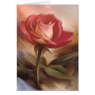 Tarjetas en colores pastel del rosa rojo