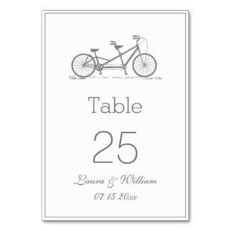 Tarjetas en tándem grises del número de la tabla