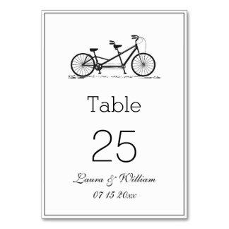 Tarjetas en tándem negras del número de la tabla