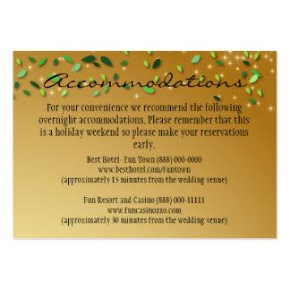 Tarjetas encantadas de la recepción nupcial del tarjetas de visita grandes