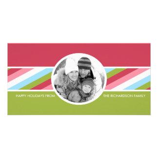Tarjetas enrrolladas de la foto de familia del día tarjetas fotográficas personalizadas
