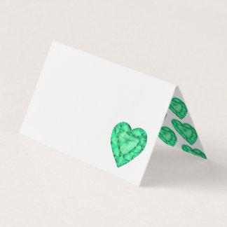 Tarjetas esmeralda verdes del lugar de la huésped