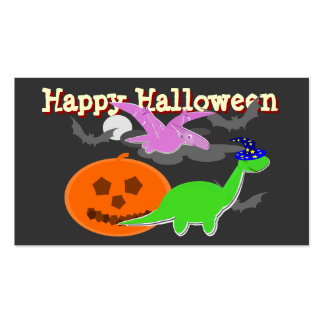 Tarjetas fantasmagóricas del feliz Halloween de lo Plantilla De Tarjeta De Negocio