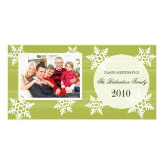 Tarjetas festivas de la foto de familia del día de tarjeta con foto personalizada