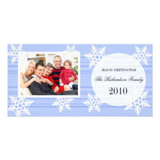 Tarjetas festivas de la foto de familia del día de tarjetas personales