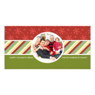 Tarjetas festivas de la foto de familia del día de tarjetas fotograficas personalizadas