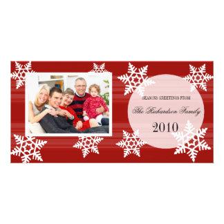 Tarjetas festivas de la foto de familia del día de tarjeta personal con foto
