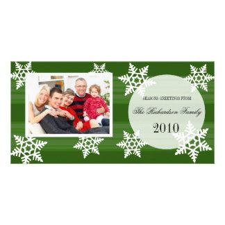 Tarjetas festivas de la foto de familia del día de tarjetas personales con fotos