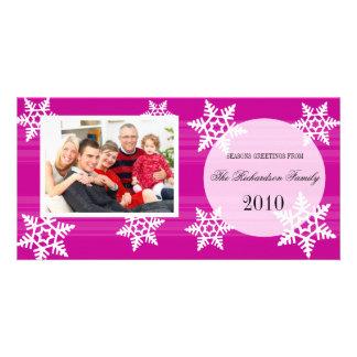 Tarjetas festivas de la foto de familia del día de tarjetas con fotos personalizadas