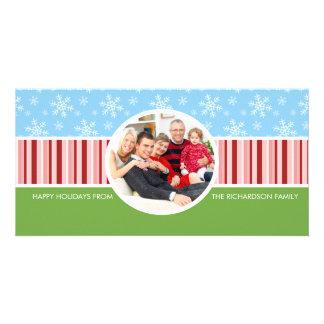 Tarjetas festivas de la foto de familia del día de tarjetas fotograficas