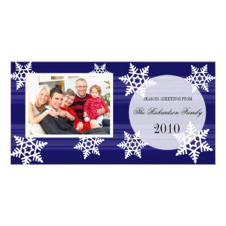 Tarjetas festivas de la foto de familia del día de tarjetas fotográficas