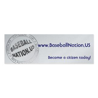Tarjetas flacas metálicas - BaseballNation Tarjetas De Visita Mini