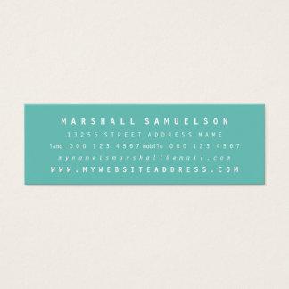 Tarjetas flacas profesionales bicolores