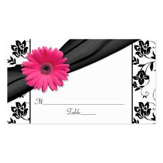 Tarjetas florales blancas del lugar del boda del n tarjeta personal