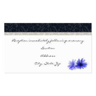 Tarjetas florales de la recepción del damasco de tarjetas de visita