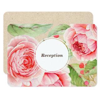 Tarjetas florales de la recepción nupcial de la invitación 8,9 x 12,7 cm
