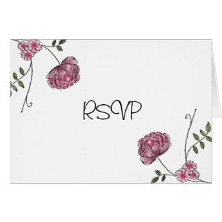 Tarjetas florales de RSVP