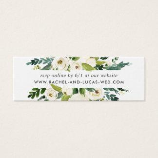 Tarjetas florales de RSVP del Web site del boda