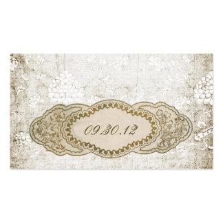 Tarjetas florales del lugar de la recepción del tarjetas de visita