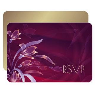 Tarjetas florales elegantes de RSVP del diseño del Invitación 8,9 X 12,7 Cm
