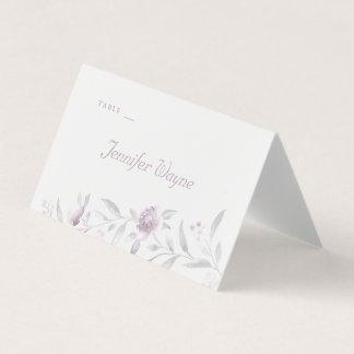 Tarjetas florales elegantes del lugar del boda del