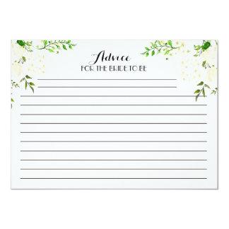 Tarjetas florales hermosas blancas del consejo invitación 11,4 x 15,8 cm