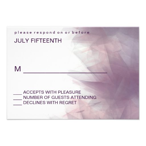 Tarjetas florales minimalistas modernas de la resp comunicados personalizados