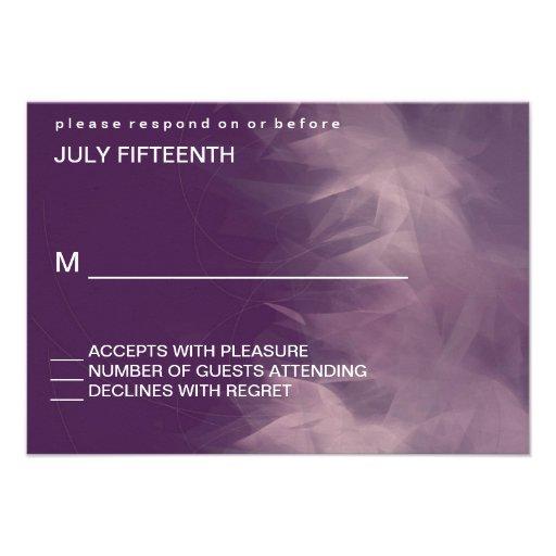 Tarjetas florales minimalistas modernas de la resp invitacion personalizada